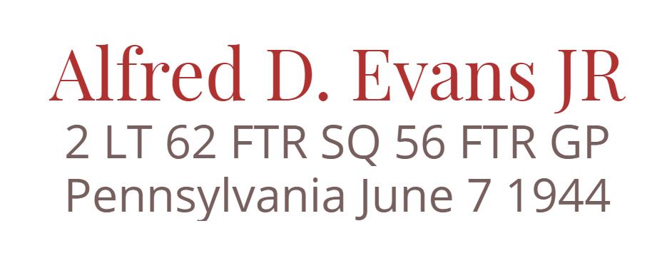Alfred D. Evans JR